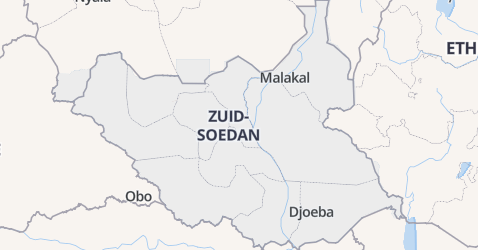 Zuid-Soedan kaart