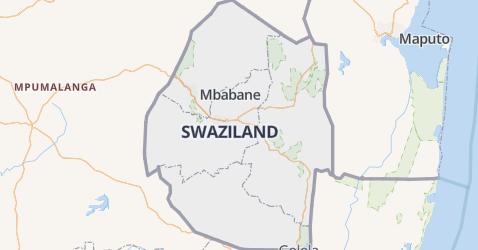Swaziland kaart