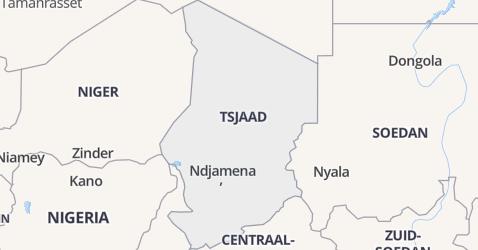 Tsjaad kaart