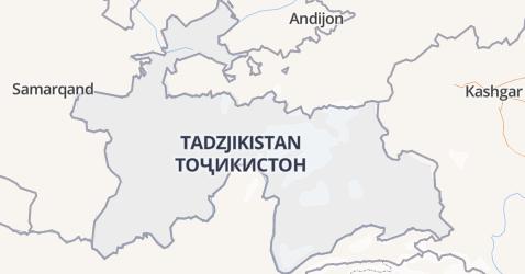 Tadzjikistan kaart
