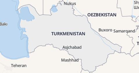 Turkmenistan kaart