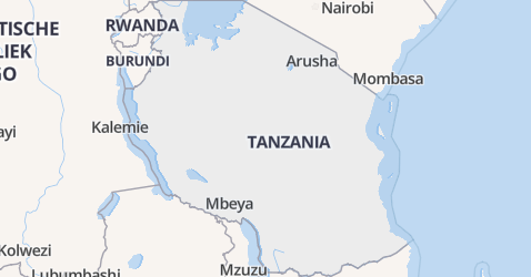 Tanzania kaart
