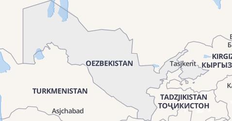 Oezbekistan kaart