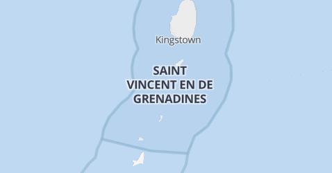 St. Vincent en de Grenadines kaart