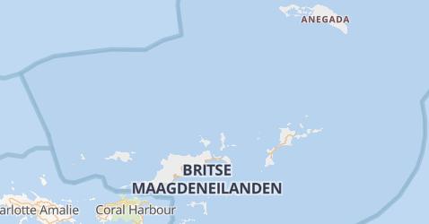 Britse Maagdeneilanden kaart