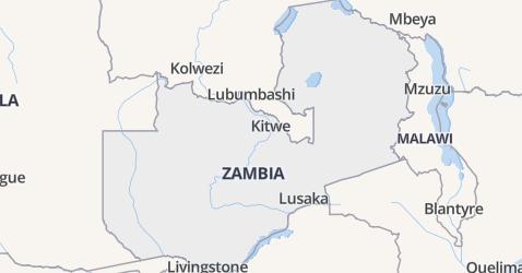 Zambia kaart