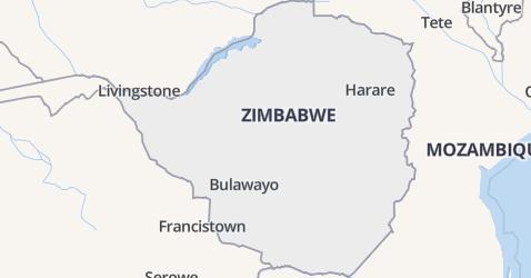Zimbabwe kaart