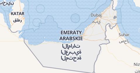 Zjednoczone Emiraty Arabskie - szczegółowa mapa