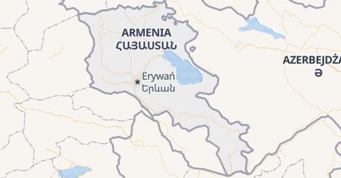 Armenia - szczegółowa mapa