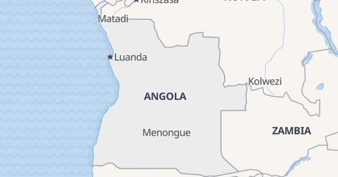 Angola - szczegółowa mapa