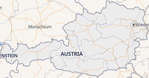 Austria - szczegółowa mapa