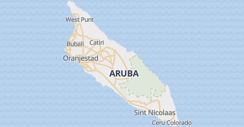 Aruba - szczegółowa mapa