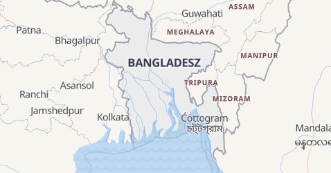Bangladesz - szczegółowa mapa