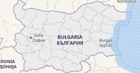 Bułgaria - szczegółowa mapa