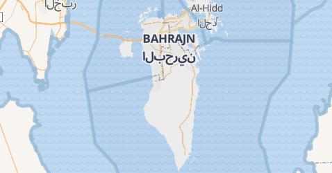 Bahrain - szczegółowa mapa