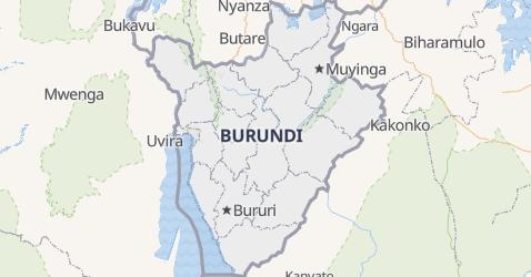 Burundi - szczegółowa mapa