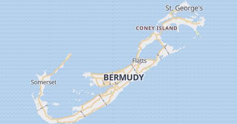 Bermudy, Wielka Brytania - szczegółowa mapa