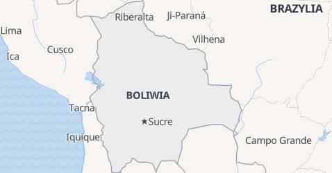Boliwia - szczegółowa mapa