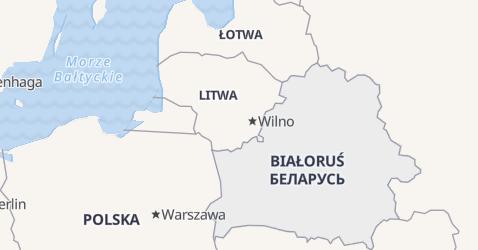 Białoruś - szczegółowa mapa