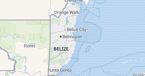 Belize - szczegółowa mapa