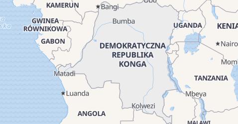 Republika Demokratyczna Kongo - szczegółowa mapa