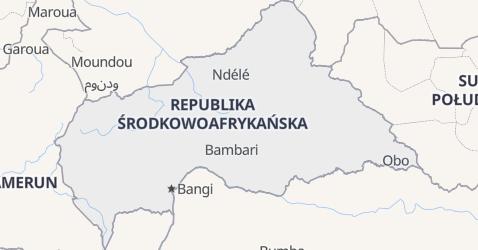 Republika Środkowo-Afrykańska - szczegółowa mapa