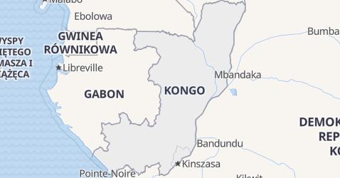 Kongo - szczegółowa mapa