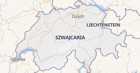 Szwajcaria - szczegółowa mapa