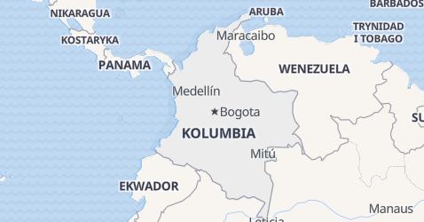 Columbia - szczegółowa mapa