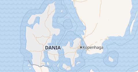Dania - szczegółowa mapa