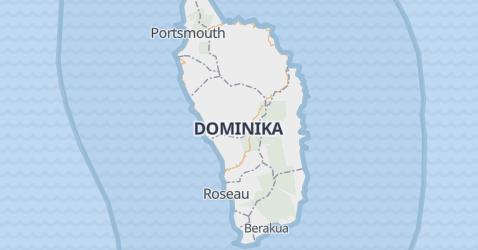 Dominika - szczegółowa mapa