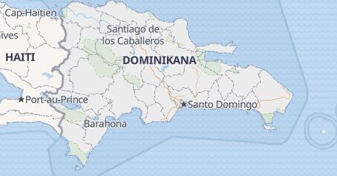 Dominikana - szczegółowa mapa