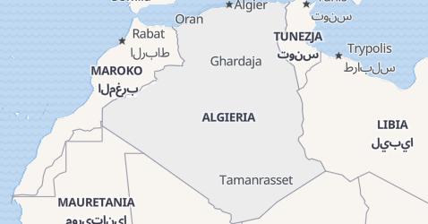 Algieria - szczegółowa mapa