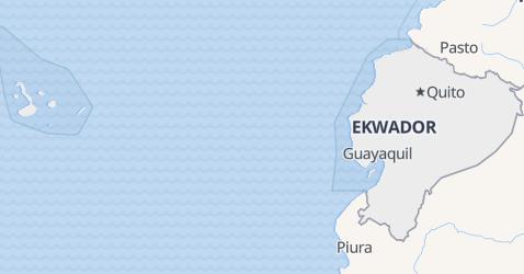 Ekwador - szczegółowa mapa