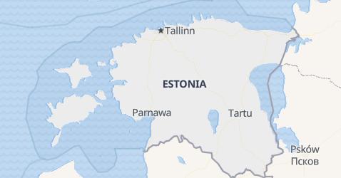 Estonia - szczegółowa mapa
