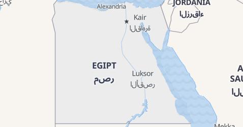 Egipt - szczegółowa mapa