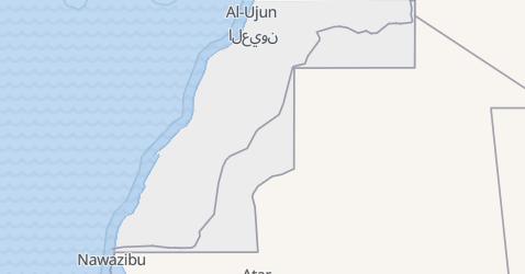 Sahara Zachodnia - szczegółowa mapa
