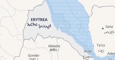 Erytrea - szczegółowa mapa