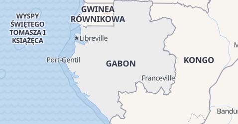 Gabon - szczegółowa mapa