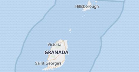 Grenada - szczegółowa mapa