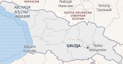 Gruzja - szczegółowa mapa