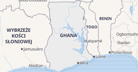 Ghana - szczegółowa mapa