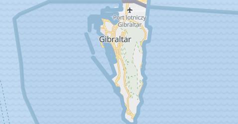Gibraltar - Wielka Brytania - szczegółowa mapa