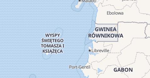 Gwinea Równikowa - szczegółowa mapa