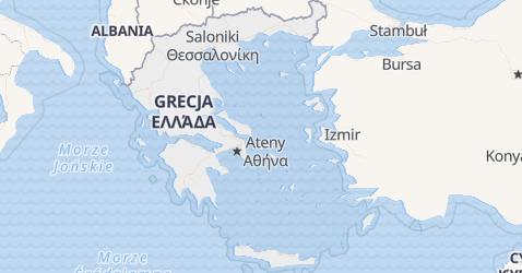 Grecja - szczegółowa mapa