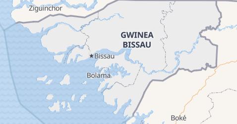 Gwinea-Bissau - szczegółowa mapa