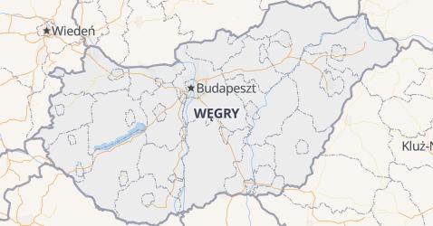 Węgry - szczegółowa mapa
