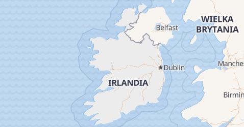 Irlandia - szczegółowa mapa