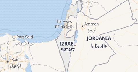 Izrael - szczegółowa mapa