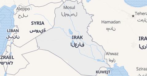 Irak - szczegółowa mapa